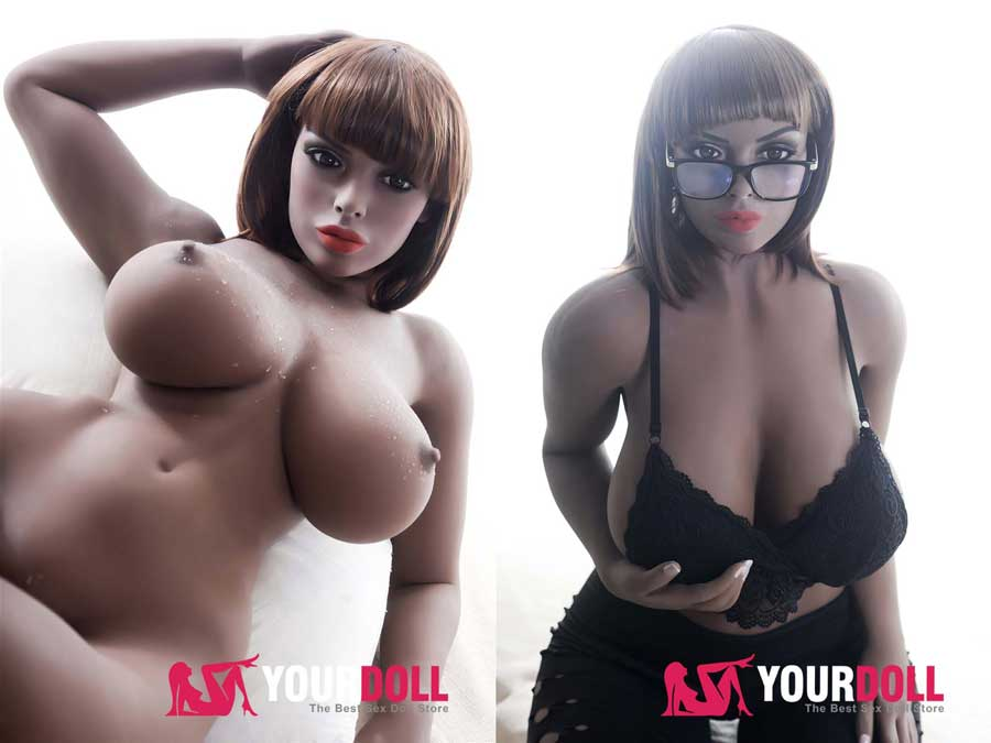 Black Nyarai sex doll with large breasts