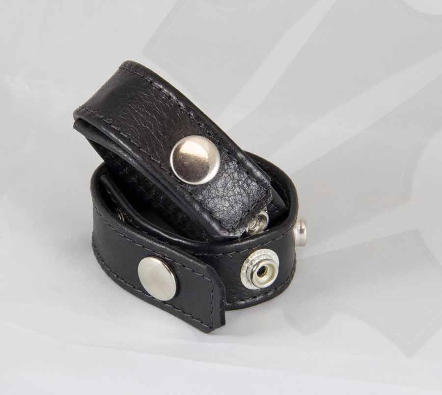 Kinky Thick Cowhide Leather Cock ring