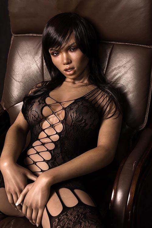 Tyra realistic black sex doll