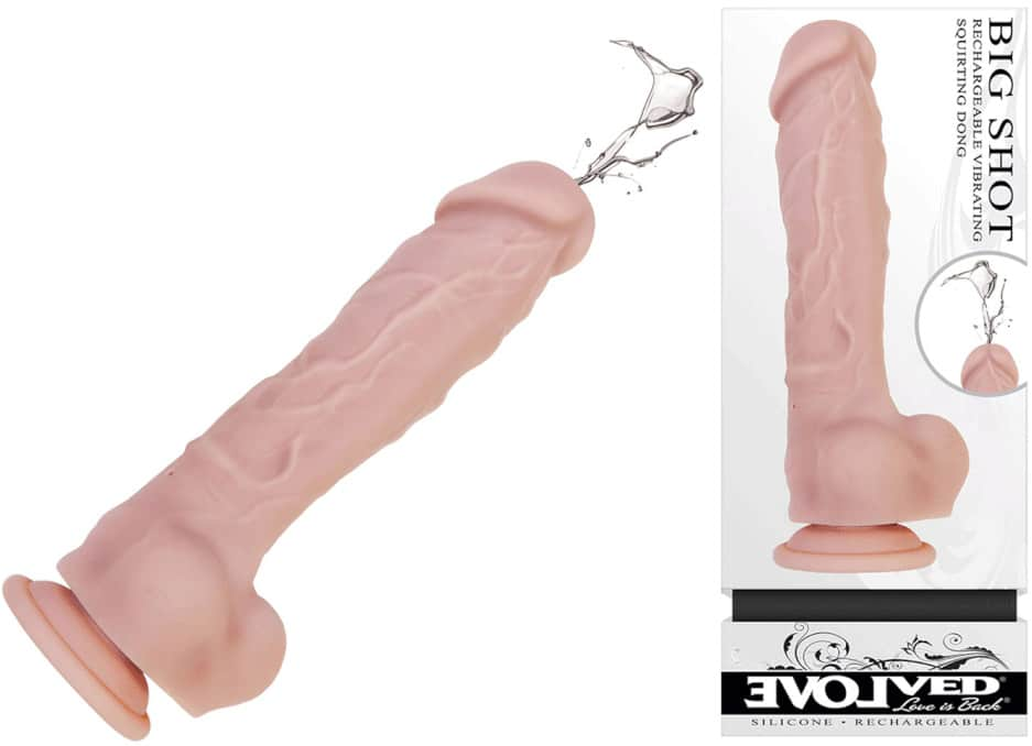 vibrating squirting dildo